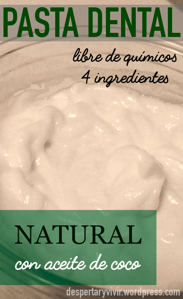 Receta sencilla de pasta dental  natural con aceite de coco.