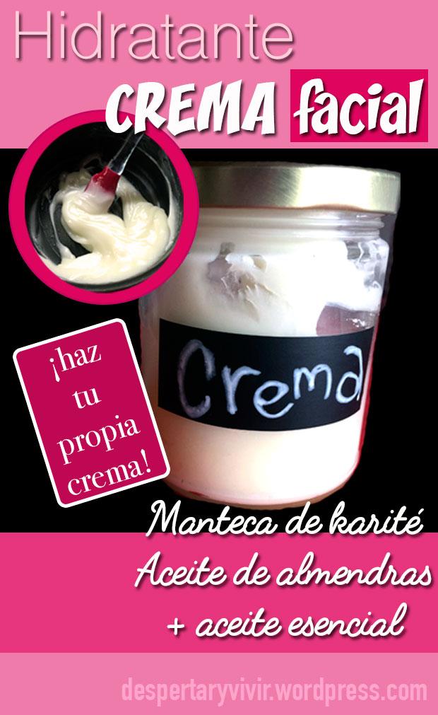Aprende a hacer una crema hidratante para el rostro o cuerpo con 3 ingredientes. Sencilla y súper efectiva.
